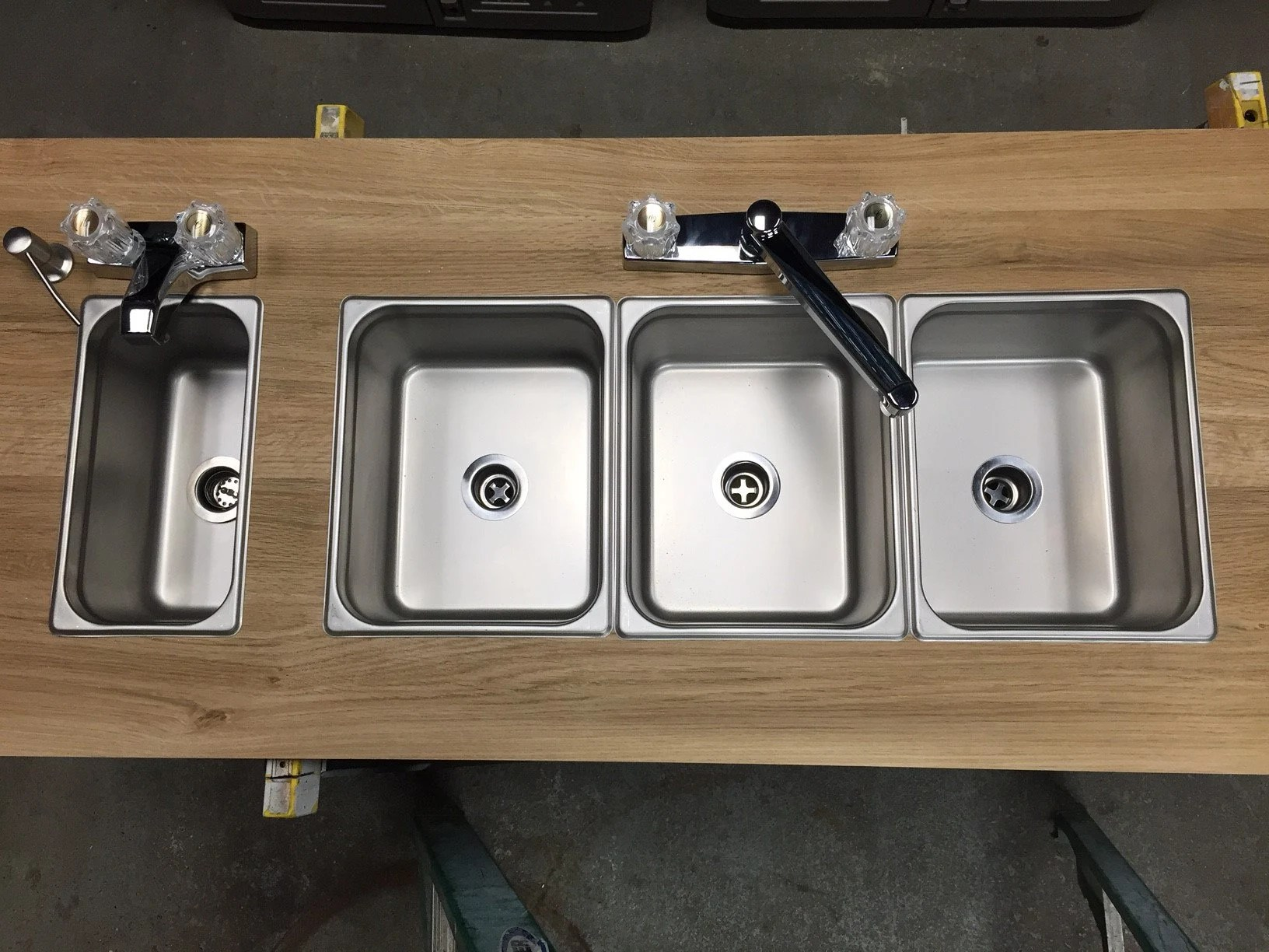 portable sink by pratts direct 3 4 bay compartment diy for outdoor food truck trailer food vendor with small sink hand wash