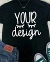 Mock Up Black Tshirt Black T Shirt Your Design Here Etsy