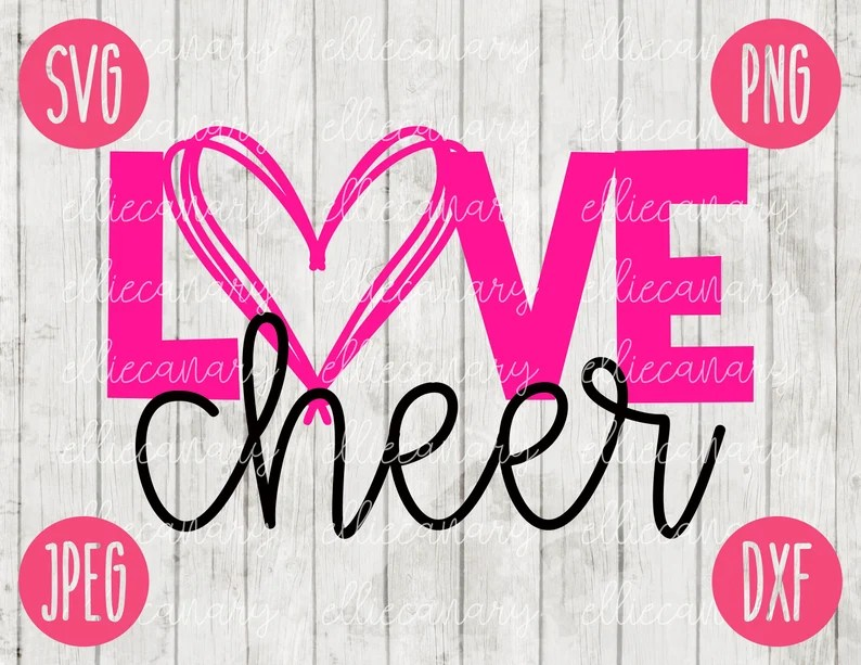 Download Love Cheer svg png jpeg dxf / Commercial Use / Vinyl Cut ...