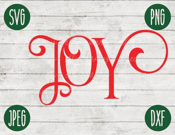 Download Christmas SVG Joy svg png jpeg dxf / Silhouette Cricut ...
