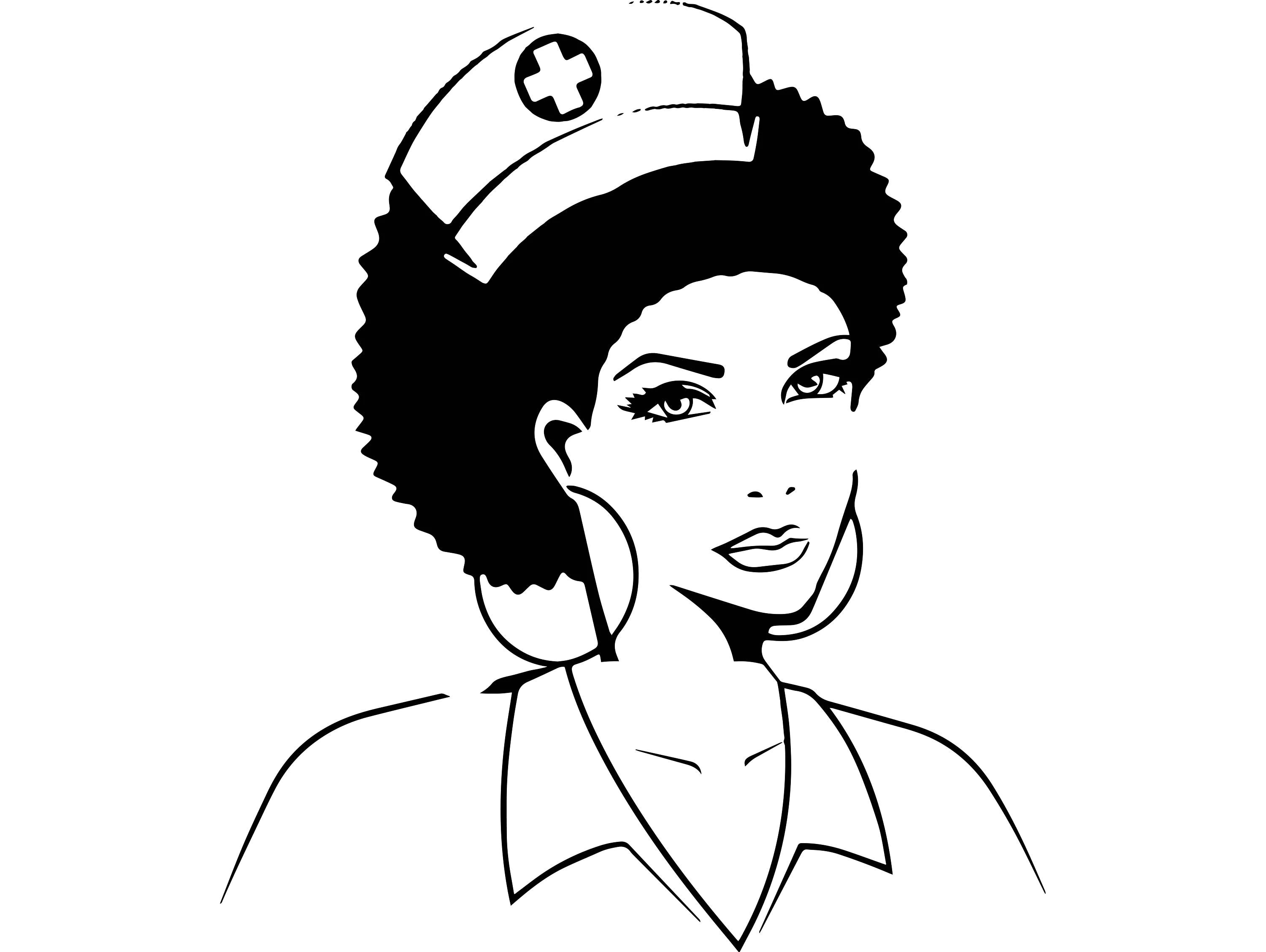 Black Nurse Woman Nubian Princess Queen Afro Hair