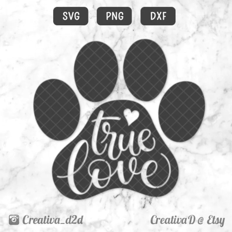 Download True Love Paw SVG PNG DXF True Love Is Pawsible Svg Love ...