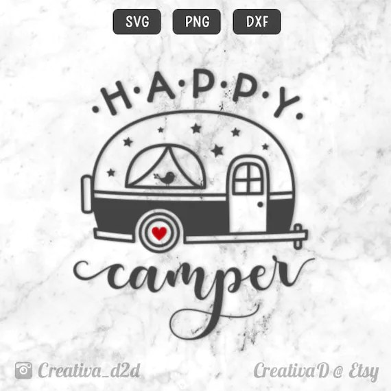 Download Happy Camper SVG File for Silhouette or Cricut • Printable ...