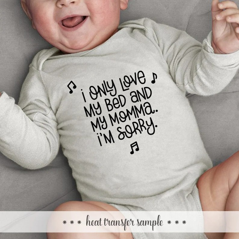 Download I Only Love My Bed And My Momma SVG Cut File for ...