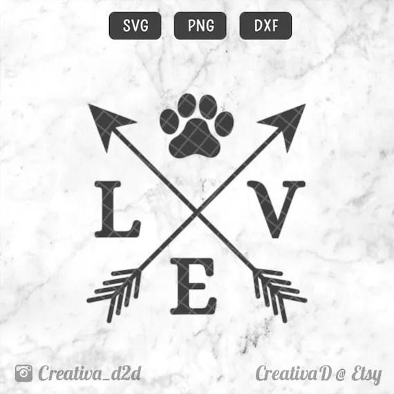 Download Love Paw Arrows SVG PNG DXF Love Dogs Svg Dog Lover Svg   Etsy