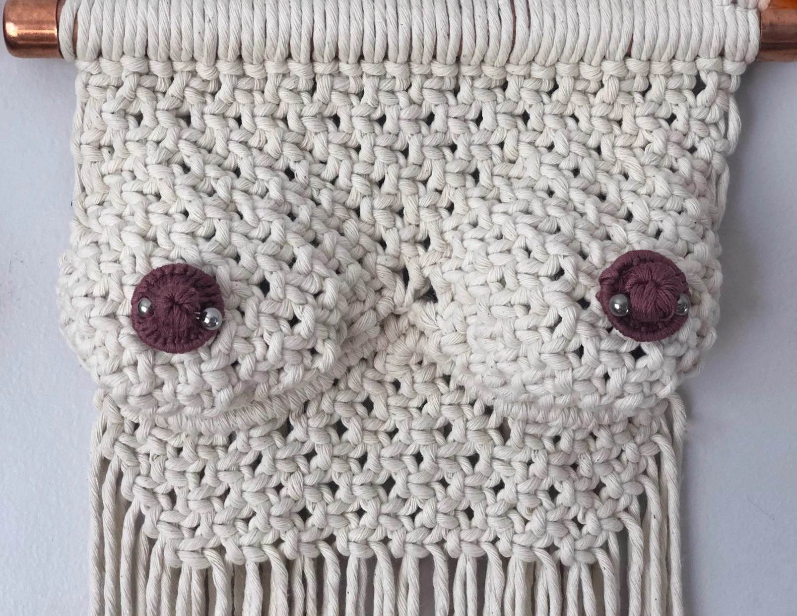 Macrame Boobs/Macrame Boobies/Personalized Breast Wall image 8