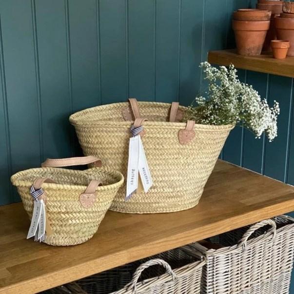 The Amelie Market Basket / Hand Woven Basket Etsy