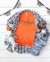 Bella Canvas 3001 Orange Unisex T Shirt Mockup Shirt Mockup Etsy