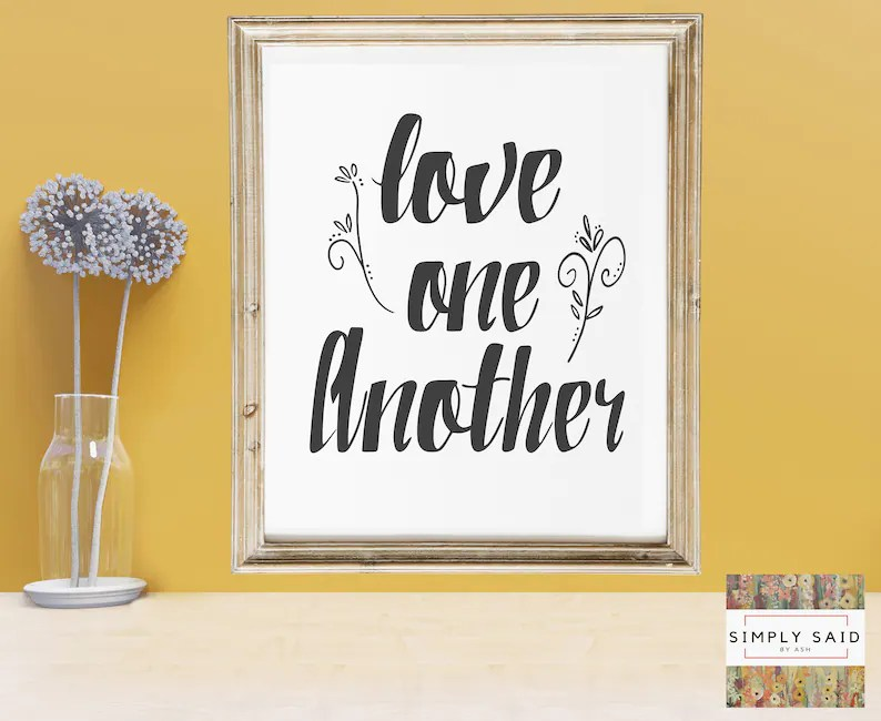 Download Love One Another SVG zip file containing svg jpg png dxf ...