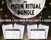 Printable New Moon & Full Moon Rituals • Moon Manifesting • Law of Attraction Planner • Moon Magic • Lunar Cycle