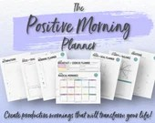 The Printable Positive Morning Planner • Goal Setting • Positive Habits • Gratitude • Mindfulness • Self-Love