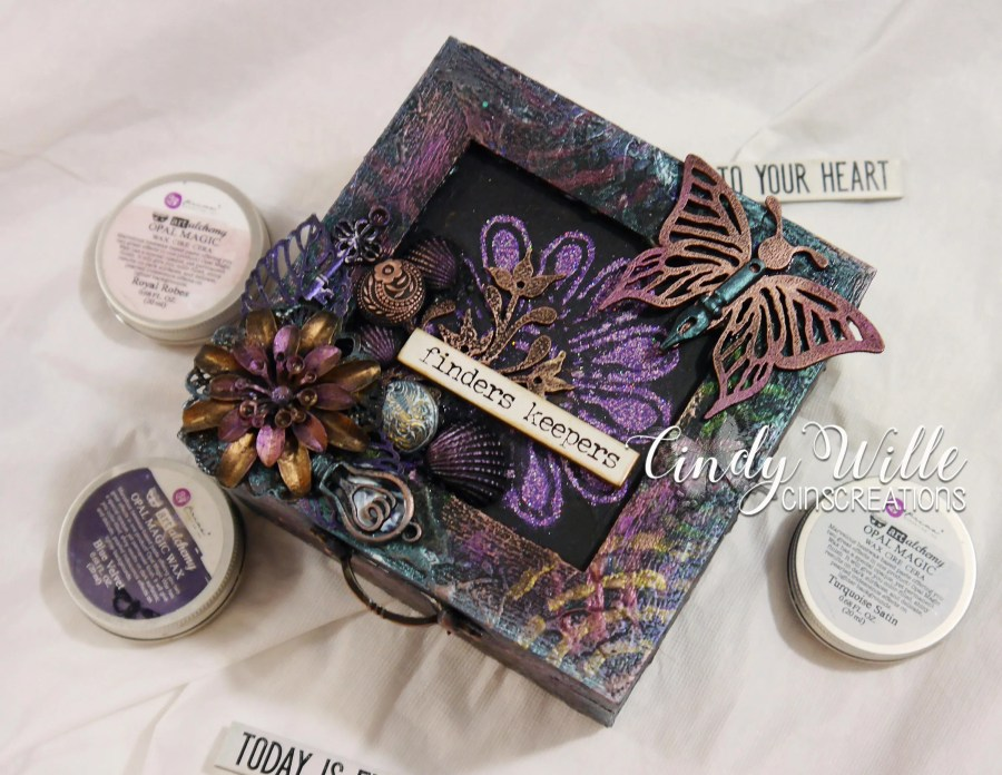 Altered Wooden Box in Mix...