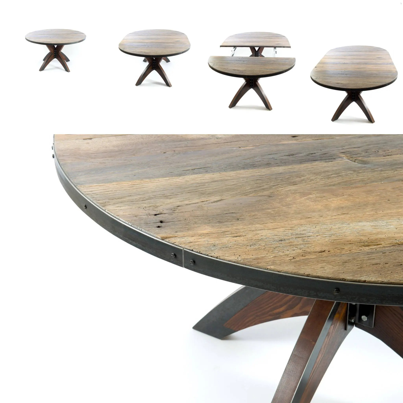 salle a manger ronde extensible table salle a manger table ronde de recuperation ferme industrielle