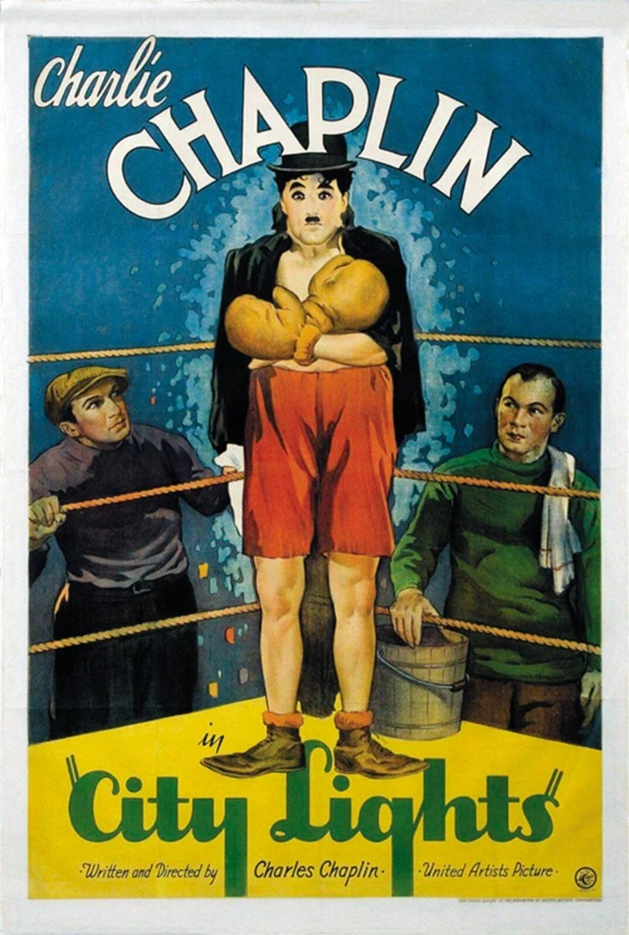 city lights 1931 charlie chaplin film poster reprint 19x12 5 zoll