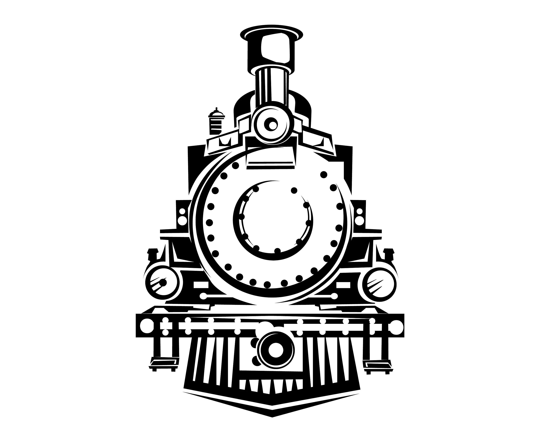 Steam Train Train Front View Vintage Retro Locomotive