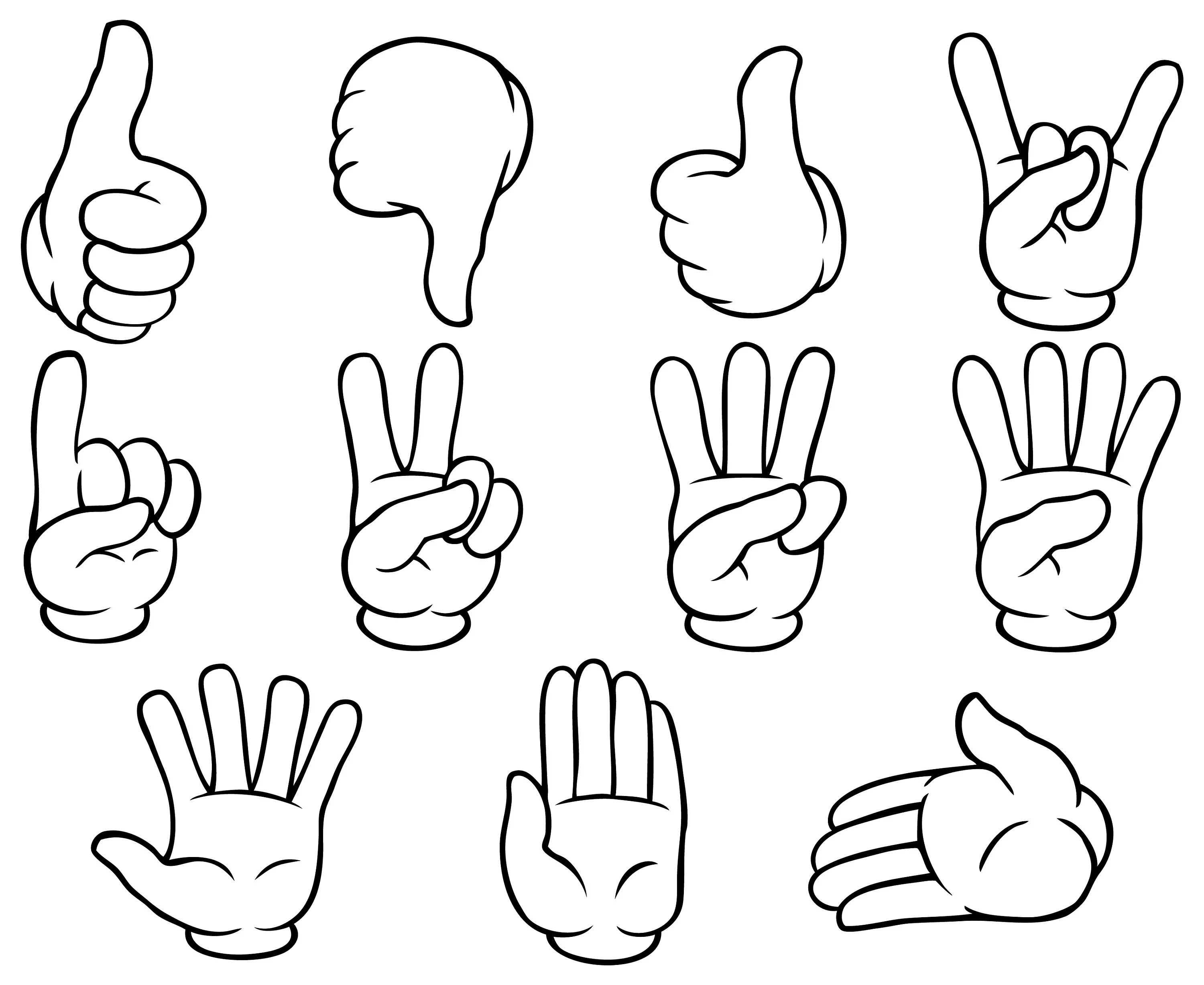 Hand Gestures Sign Finger Counting Thumbs Up Stop