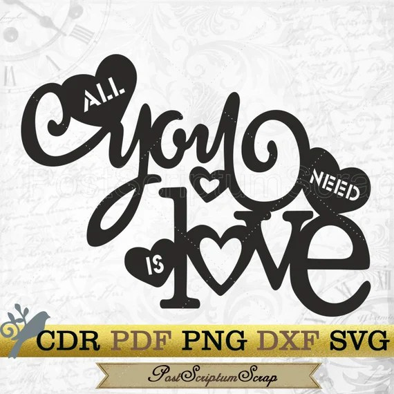 Download The BEATLES svg all you need is love wedding love wall ...