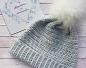 Tweed Stripe Beanie - Hat - crochet pattern - printable PDF - US & UK crochet terms.
