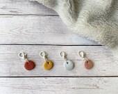 Mini yarn ball stitch markers for crochet & knitting