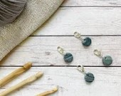 Marble Granite stitch markers for crochet & knitting, set of 4