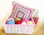 Summer Granny Cushion - cushion cover - crochet pattern - printable PDF - US & UK crochet terms.