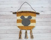 Mickey Mouse Wall Hanging - crochet pattern - Home Decor - printable PDF - US & UK Terms