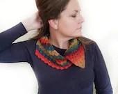 Corner 2 Corner Collar Cowl - scarf - crochet pattern - printable PDF - US & UK Terms