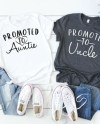 Promoted To Aunt And Uncle Promoted To Uncle Set Of Two Etsy