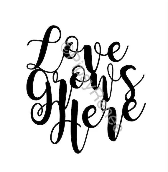 Download Love Grows Here SVG Wedding Cake Topper SVG   Etsy