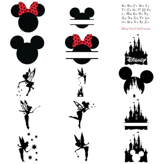 Download Disney Bundle SVG Cut Files: Mickey & Minnie Mouse Ears | Etsy