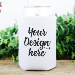 White Can Cooler Mockup Can Cooler Mock Up Blank Mock Up Etsy