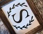 Monogram Farmhouse Sign...