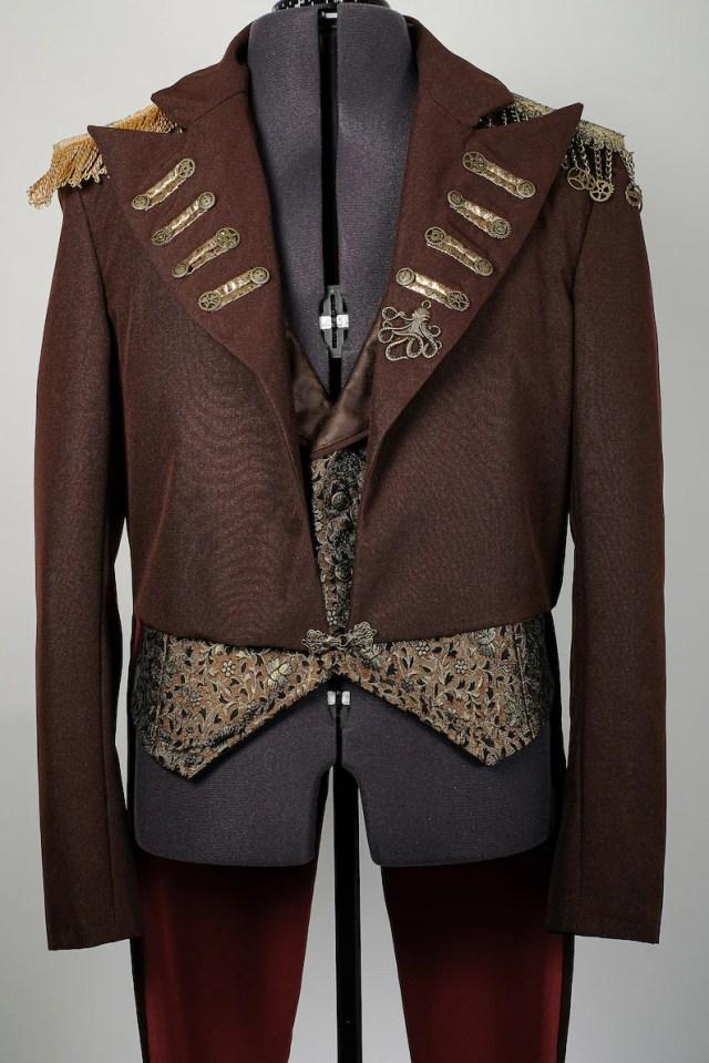 Men's Steampunk Jacket, Waistcoat & Shirt Outfit. 2