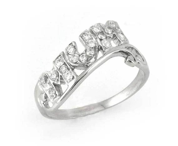 Sterling Silver Mum Ring
