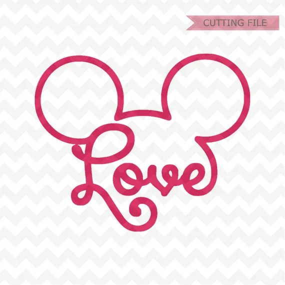 Mickey Mouse head SVG mickey head love svg and png file | Etsy