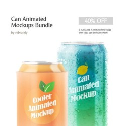 Can Animated Mockups Bundle Beer Mock Up Drink Packaging Etsy