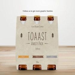 Beer Pack Mockup Bottle Packaging Mock Up Alchohol Case Etsy