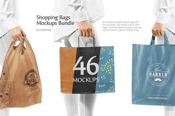 We made a list of free, stunning looking and high quality bag mockups for your designs. Shopping Bags Mockups Bundle Paper Bag Mock Up Plastic Bag Etsy