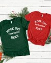 Red 3001 Bella Couples Christmas T Shirt Mock Up Bella Canvas Etsy