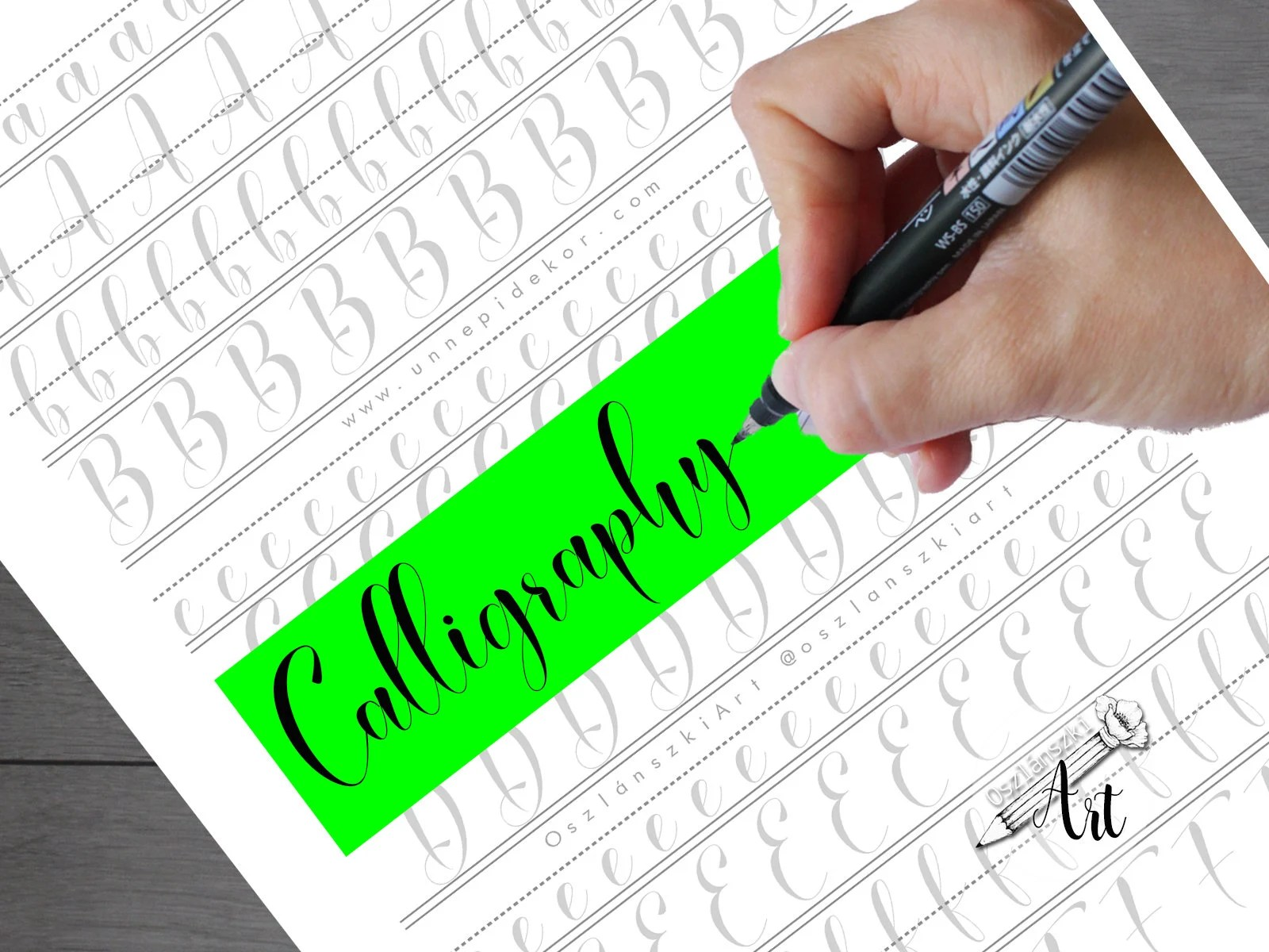 Calligraphy Practice Sheets Learn Calligraphy Letters