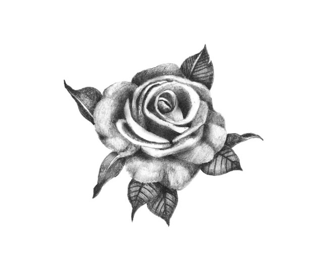Pretty Rose Temporary Tattoo Rose Temporary Tattoo Black Rose Tattoo Realistic Rose Tattoo Floral Temporary Tattoo Fake Tattoo