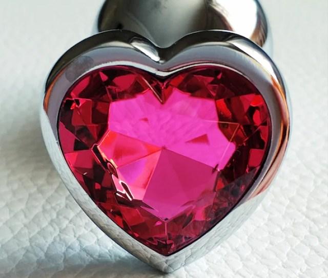 Hot Pink Heart Butt Plug Stimulation Sex Toys Butt Plug Anal Steel Plug Princess Plug Anal Fetish