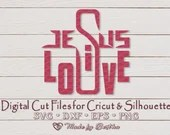 Jesus is Love - Easter Svg, Resurrection Sunday, Religious, Inspirational, Digital SVG File for Cricut or Silhouette, DXF, PNG, Eps, Vector  Inspirational il 170x135