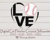 Baseball SVG, Softball SVG, I love Baseball, Baseball gift, Baseball Shirt design, Digital file for Cricut and Silhouette  Sports il 170x135