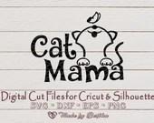 Cat Mama/Mom SVG - Pet lovers  Mom il 170x135