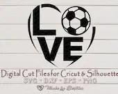 Soccer SVG, Football svg, I love Soccer svg, Soccer Dad gift, Soccor ball svg, Sports svg, Digital File for Cricut, Silhouette  Sports il 170x135