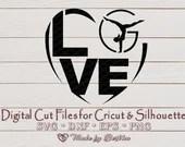 Gymnastic SVG, I LOVE Gymnastics, Gymnastics love, Digital Download, File for Cricut, Silhouette, commercial use svg  Love Hearts il 170x135