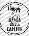 Cute Happy Camper Decal Cute Decal For Camping Camper Decal Etsy