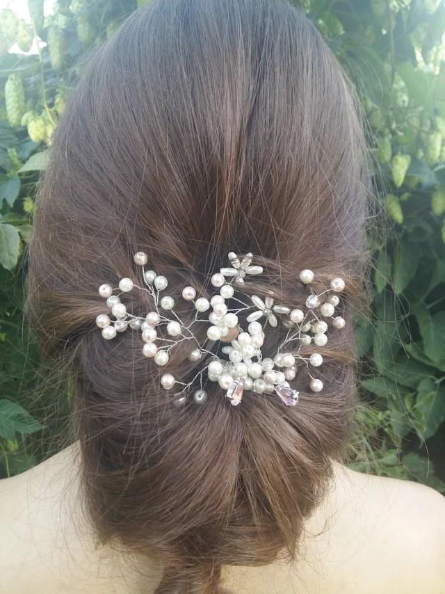 wedding hair vine, pearl hair vine, wedding hair pins, pearl hair comb, bridal hair pins, wedding pins, bridal hair comb, wedding bobby pins