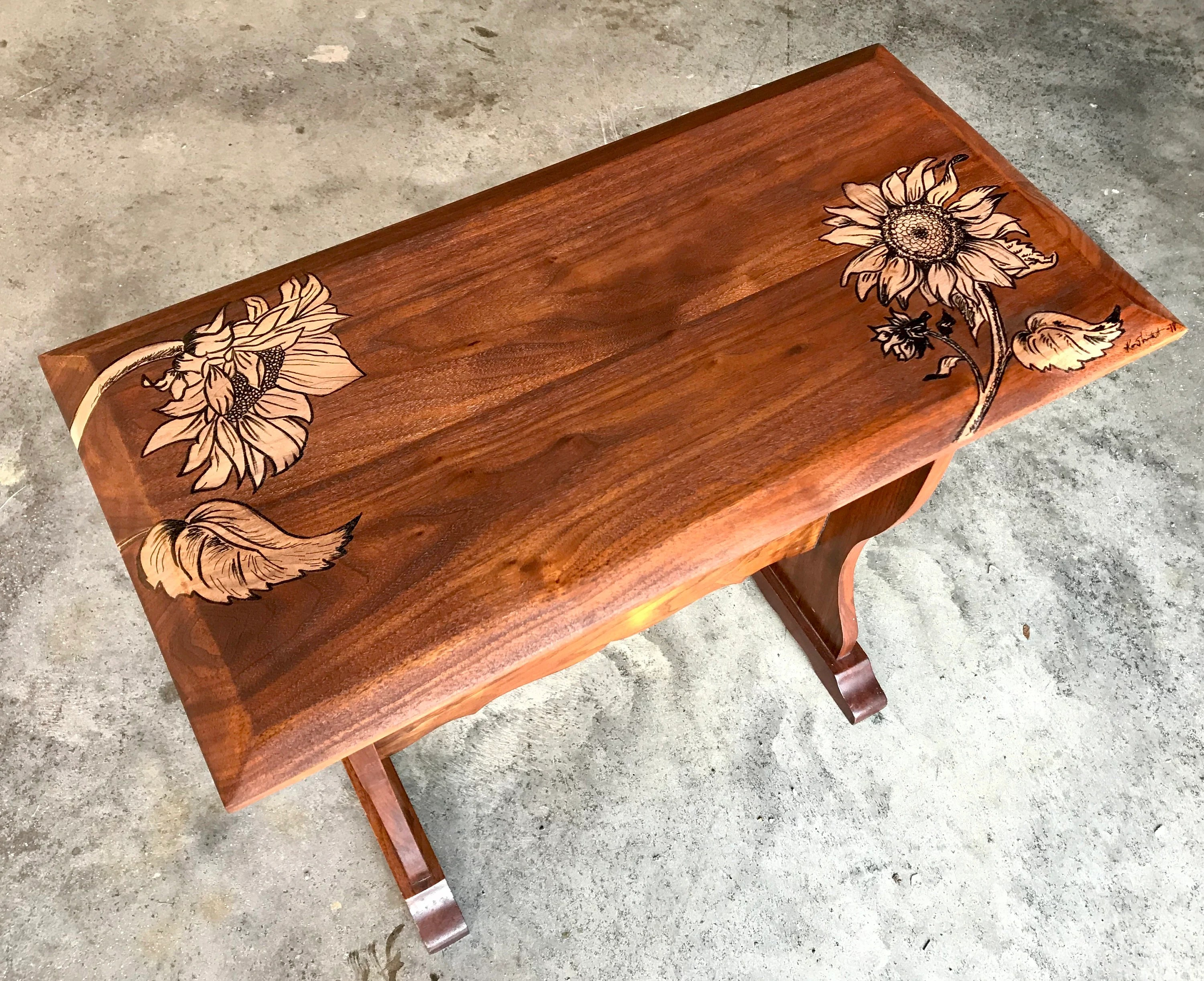 painted coffee table etsy